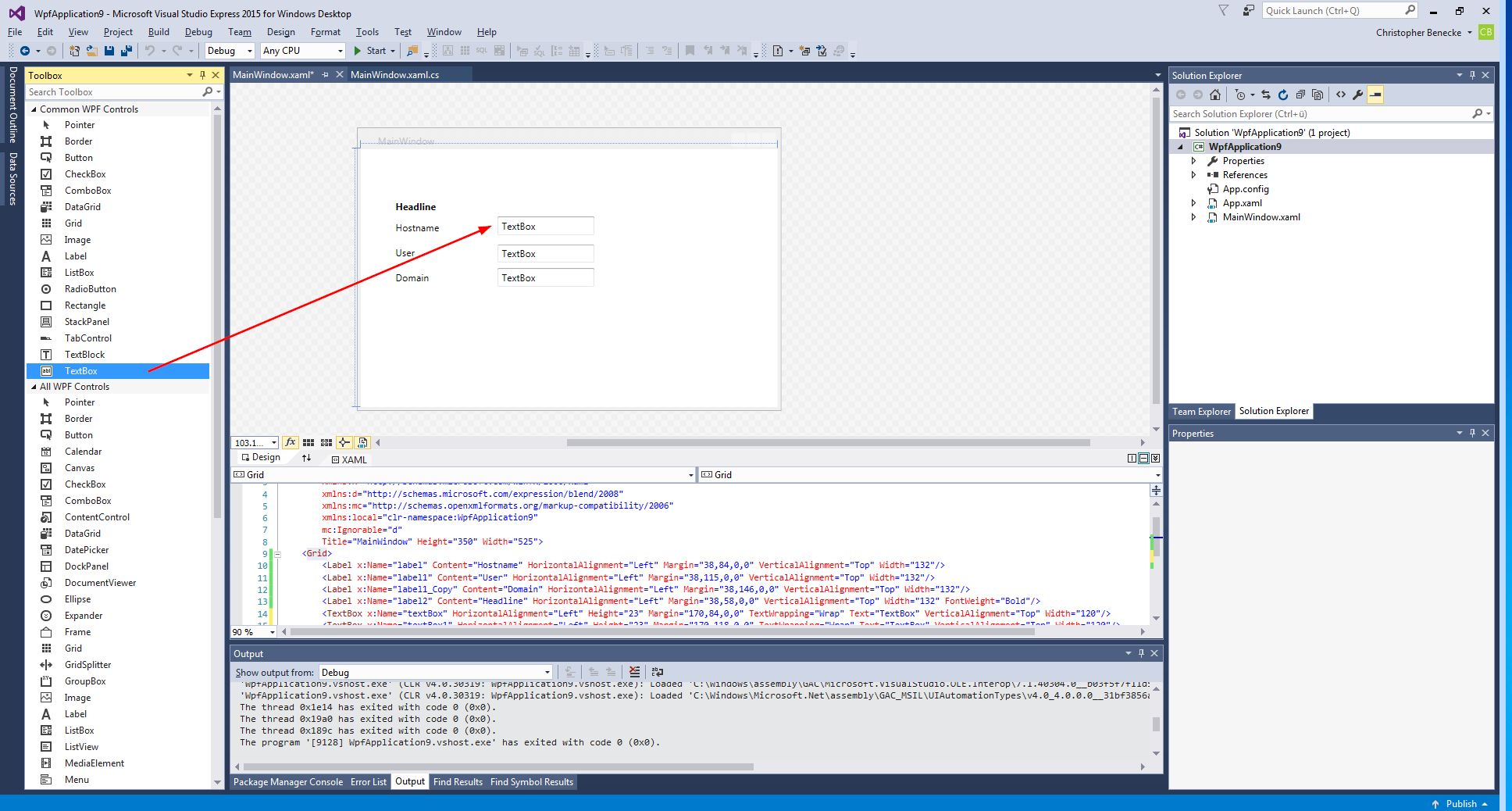 PowerShell – How to build a GUI with Visual Studio – benecke